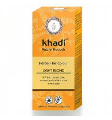 Vopsea de par naturala blond deschis Khadi