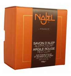 Sapun de Alep Najel Collection cu argila rosie 100g