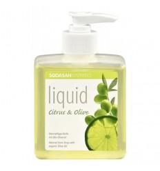 Săpun lichid si gel de dus bio din plante Citrice-Măsline 300ml