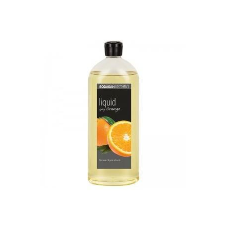 Săpun lichid si gel de dus din uleiuri bio -portocala condimentata 1L