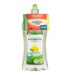 Detergent de vase cu lamaie 1l Sodasan + laveta CADOU