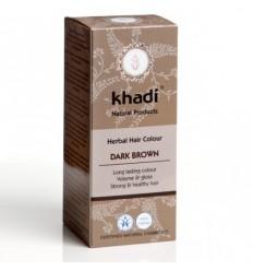 Vopsea de păr naturală Șaten Închis - Khadi